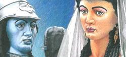 Madame Goliath : un timbre et une carte postale