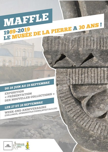 affiche ot musee de la pierre 30 ans 2k19